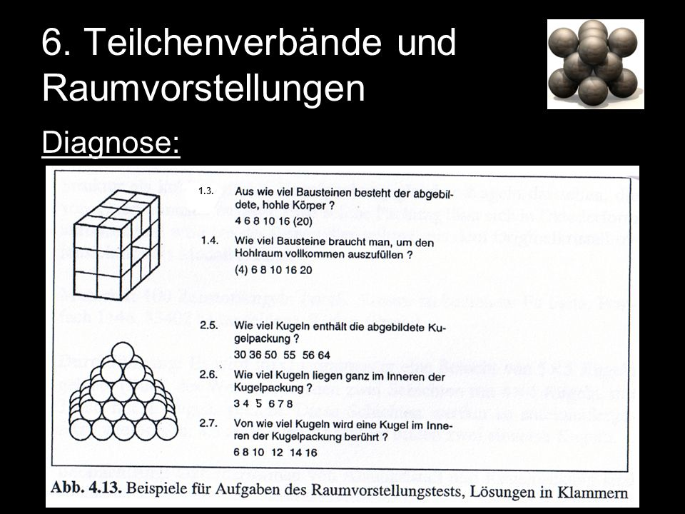 6. Teilchenverbände und Raumvorstellungen