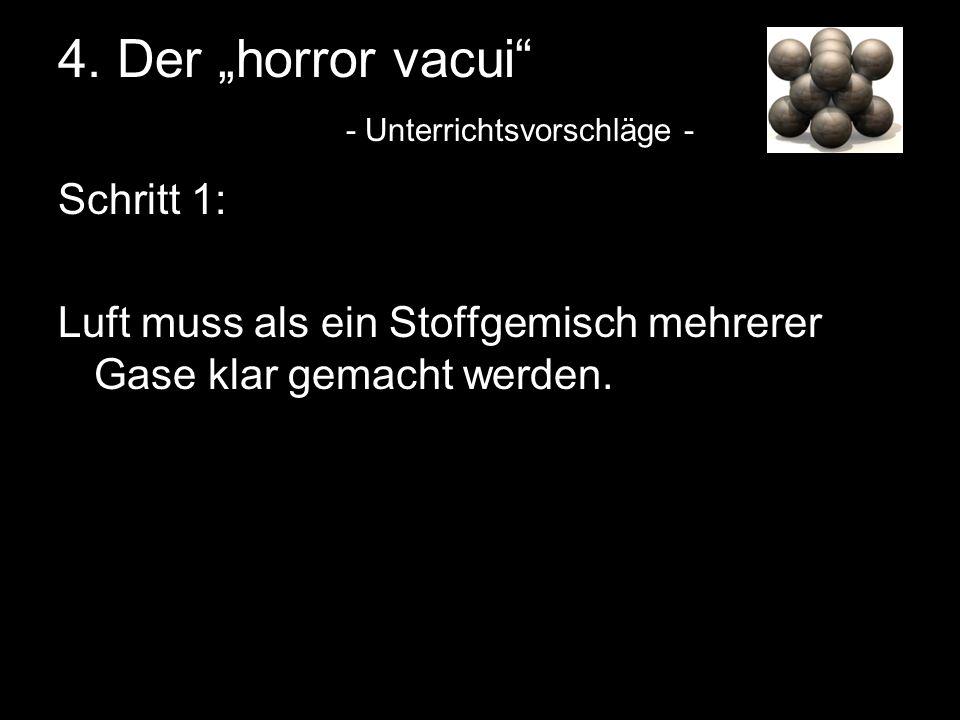 """4. Der """"horror vacui - Unterrichtsvorschläge -"""