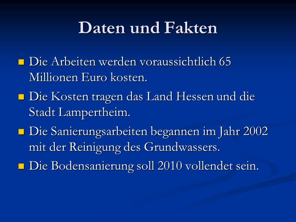 Daten und Fakten Die Arbeiten werden voraussichtlich 65 Millionen Euro kosten. Die Kosten tragen das Land Hessen und die Stadt Lampertheim.