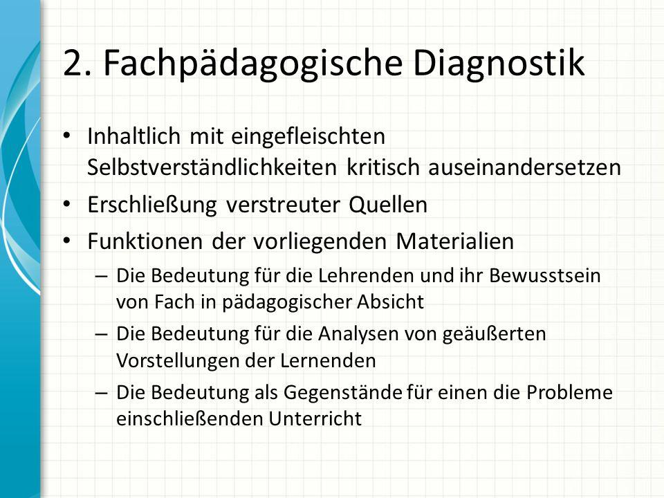 2. Fachpädagogische Diagnostik