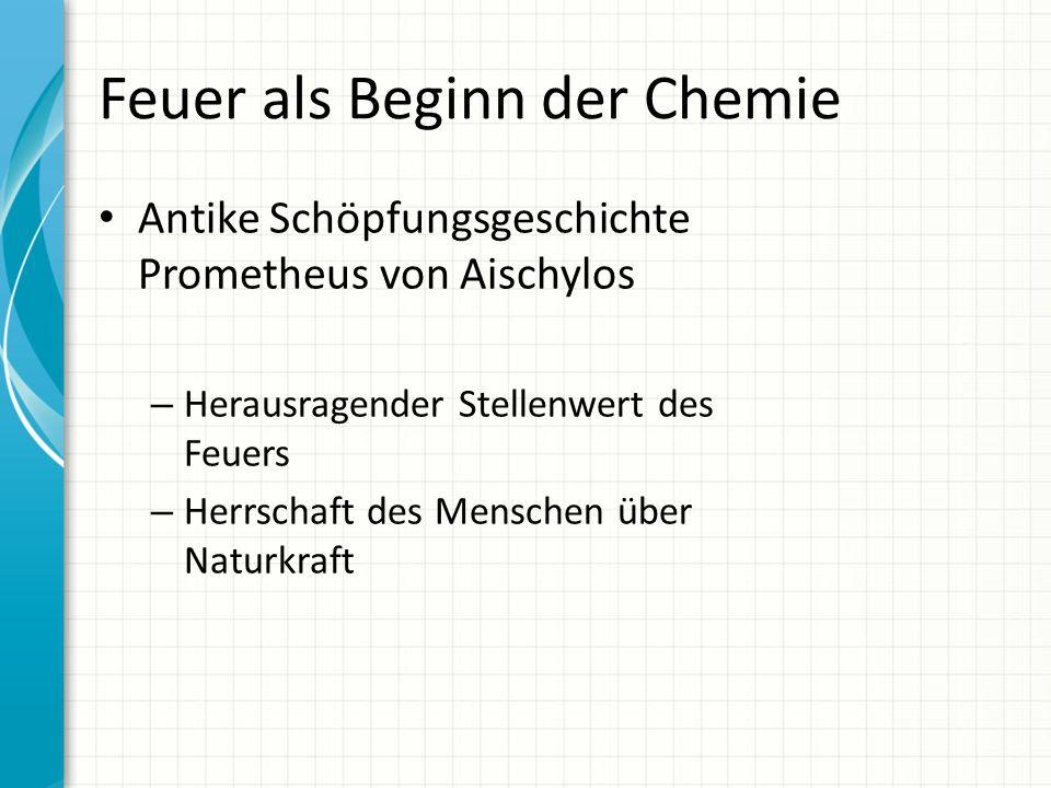 Feuer als Beginn der Chemie
