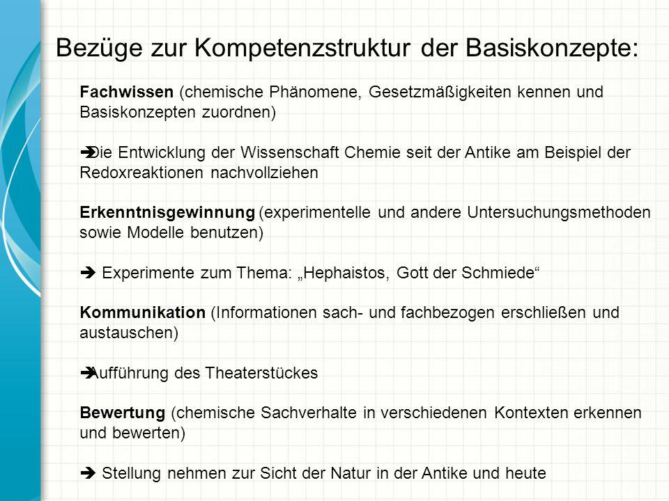 Bezüge zur Kompetenzstruktur der Basiskonzepte:
