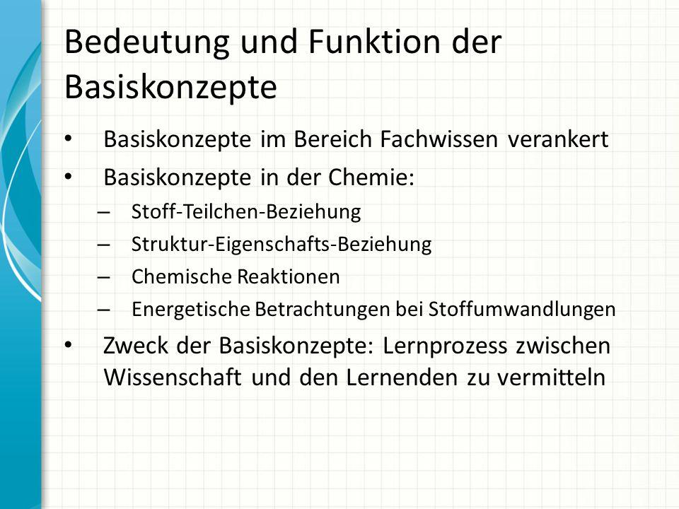 Bedeutung und Funktion der Basiskonzepte