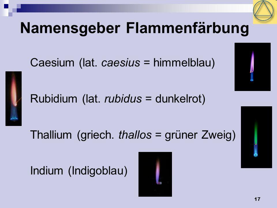 Namensgeber Flammenfärbung