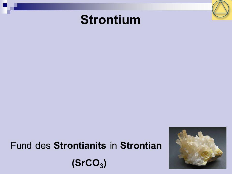 Strontium Fund des Strontianits in Strontian (SrCO3)