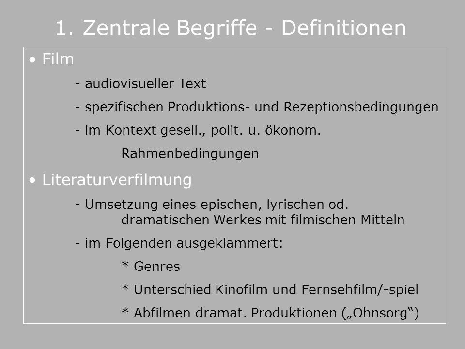 1. Zentrale Begriffe - Definitionen