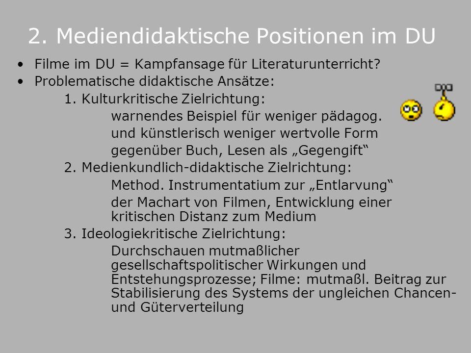 2. Mediendidaktische Positionen im DU