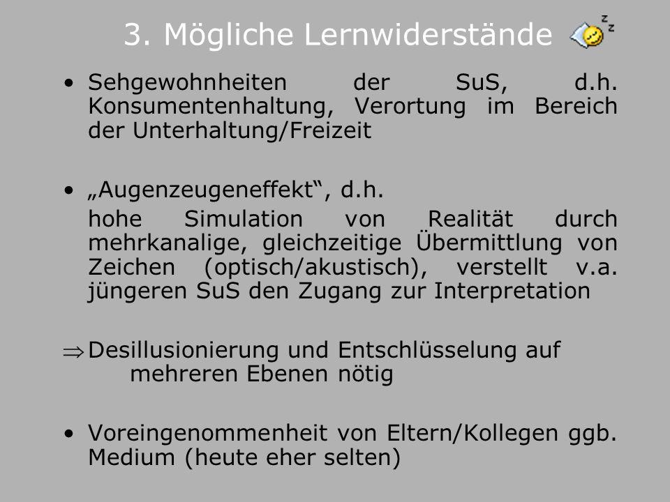 3. Mögliche Lernwiderstände