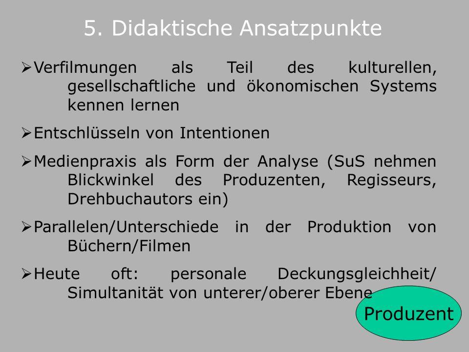 5. Didaktische Ansatzpunkte