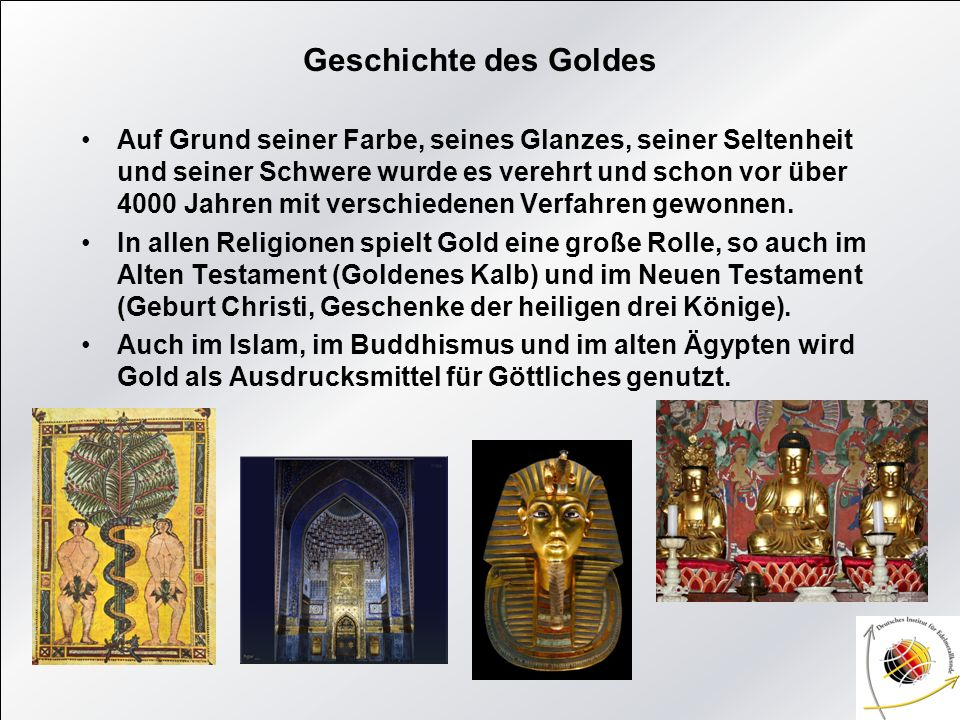 Geschichte des Goldes