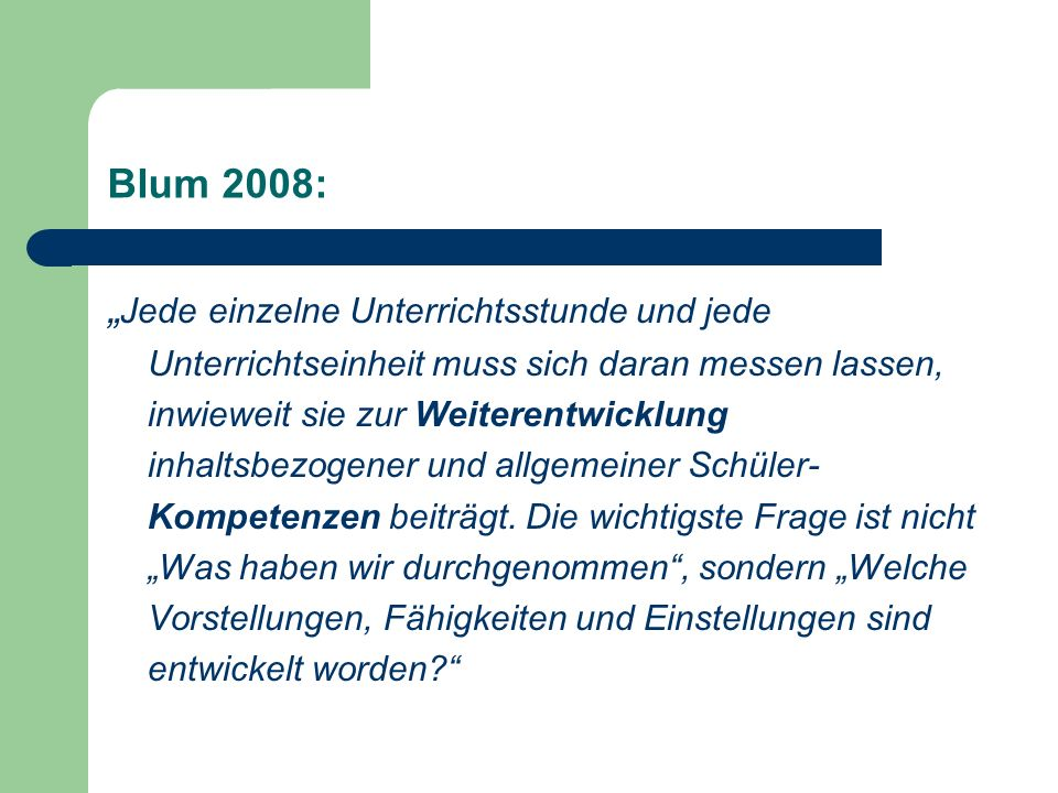 Blum 2008: