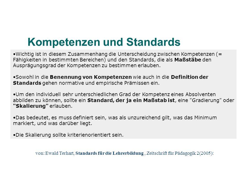 Kompetenzen und Standards