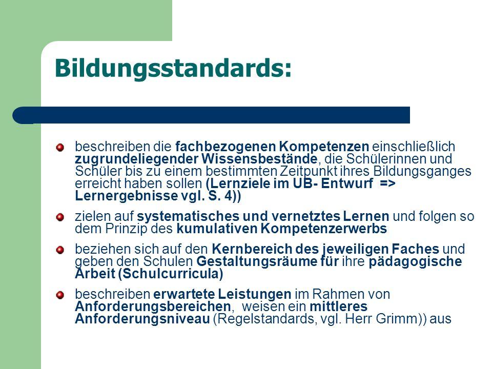 Bildungsstandards: