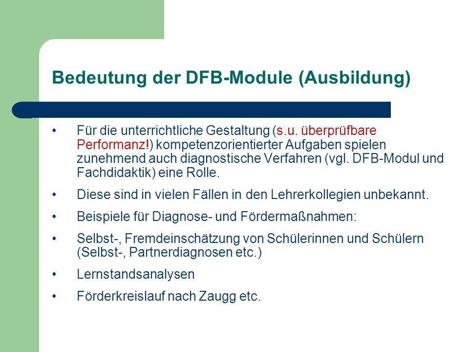 Bedeutung der DFB-Module (Ausbildung)
