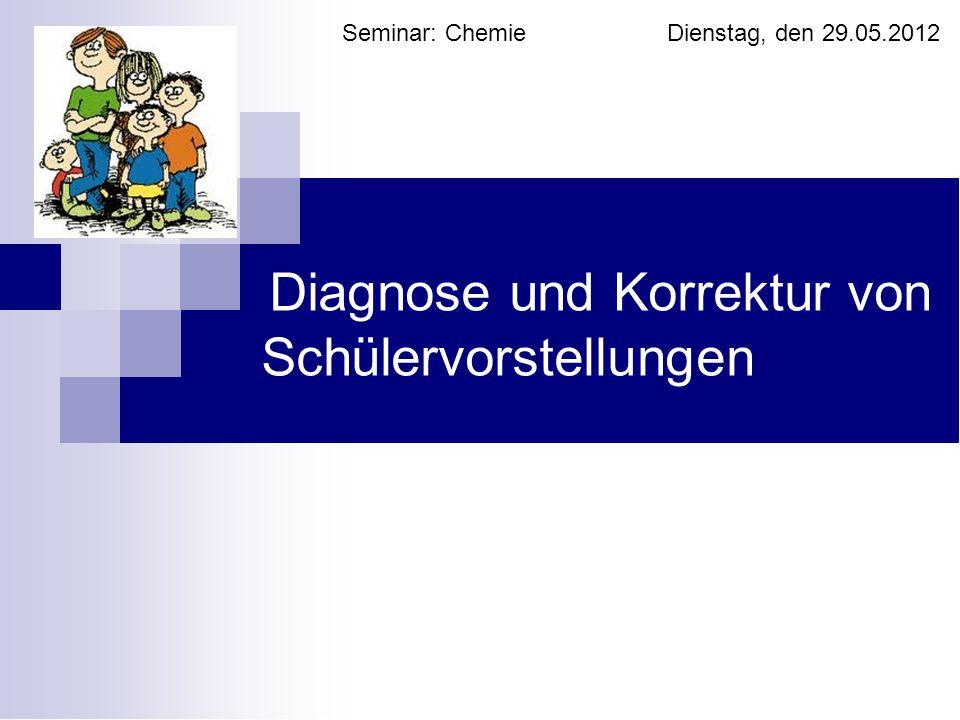 Diagnose und Korrektur von Schülervorstellungen