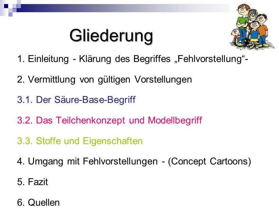 """Gliederung 1. Einleitung - Klärung des Begriffes """"Fehlvorstellung -"""