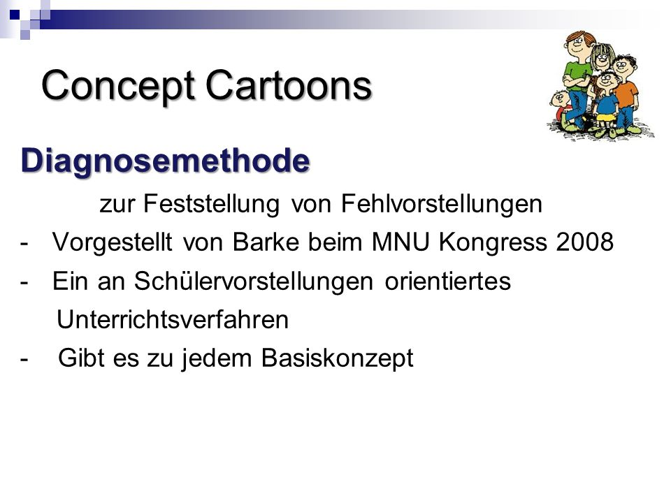 Concept Cartoons Diagnosemethode