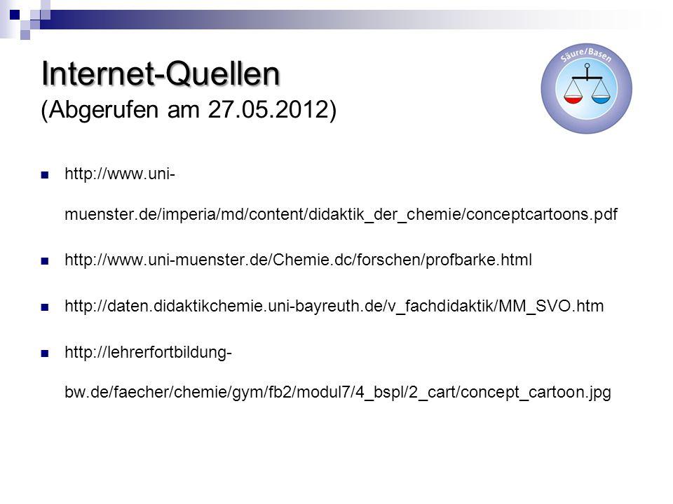 Internet-Quellen (Abgerufen am 27.05.2012)