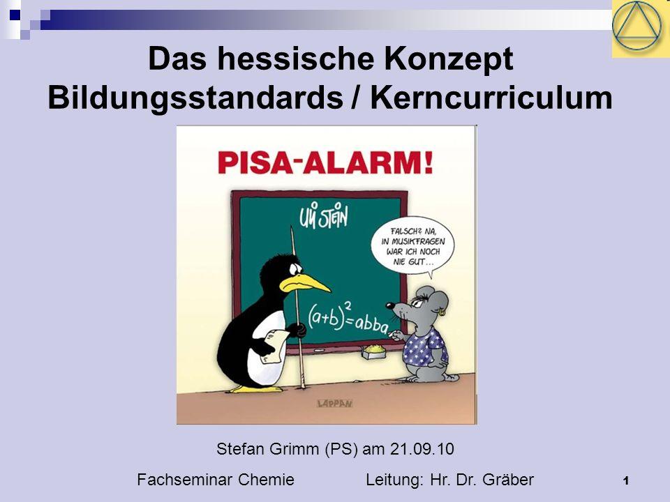 Das hessische Konzept Bildungsstandards / Kerncurriculum