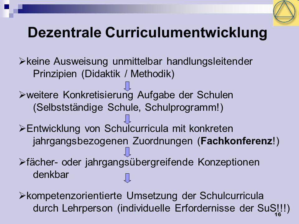 Dezentrale Curriculumentwicklung