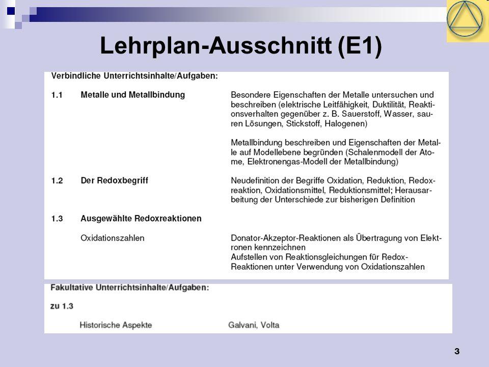 Lehrplan-Ausschnitt (E1)