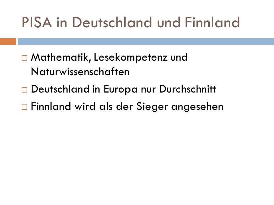 PISA in Deutschland und Finnland