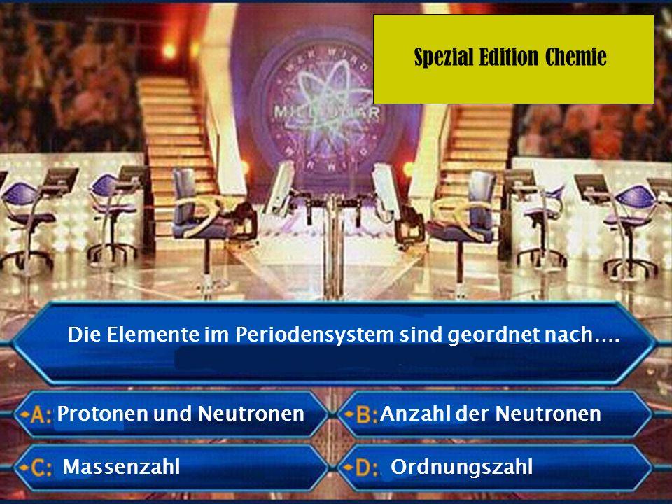 Die Elemente im Periodensystem sind geordnet nach….
