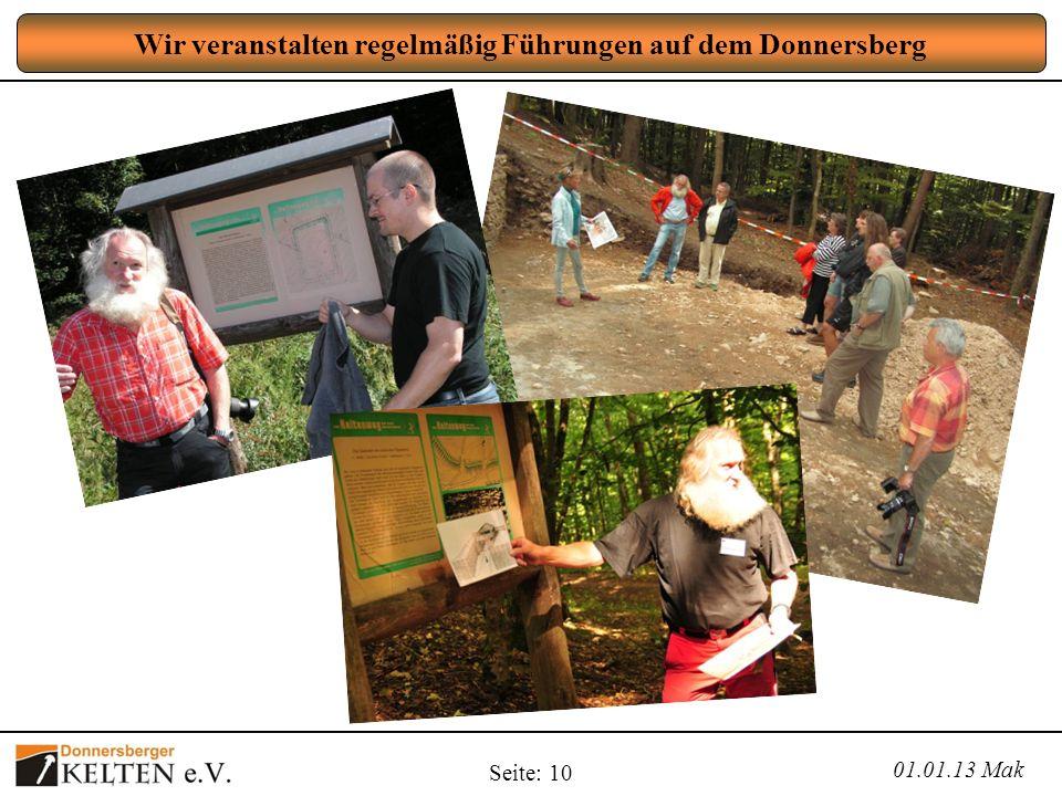 Wir veranstalten regelmäßig Führungen auf dem Donnersberg