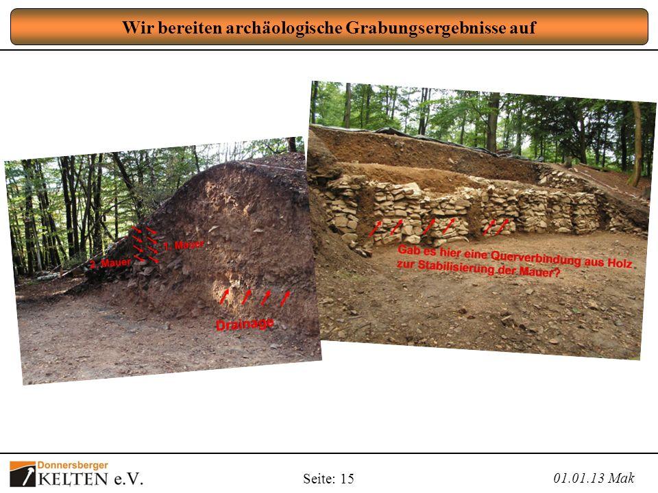 Wir bereiten archäologische Grabungsergebnisse auf