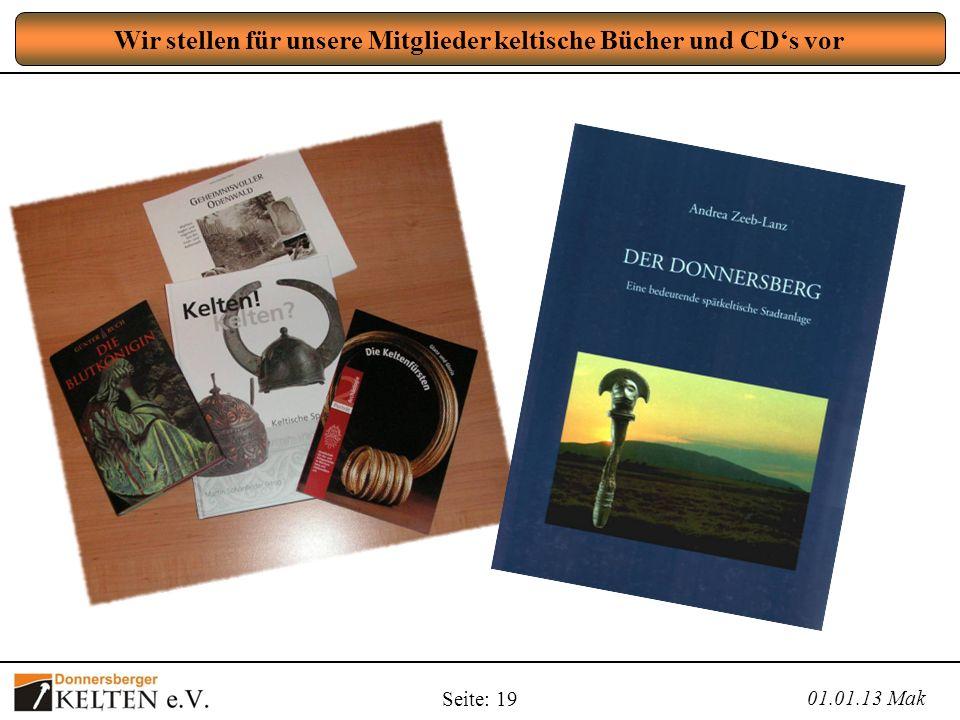 Wir stellen für unsere Mitglieder keltische Bücher und CD's vor