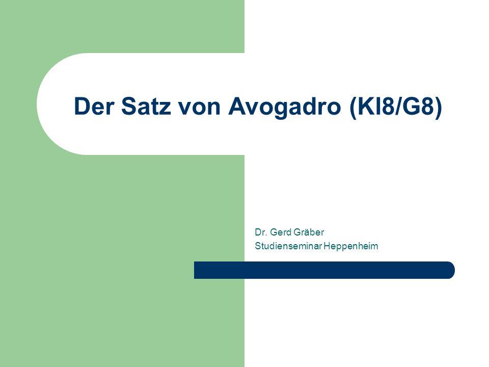 Der Satz von Avogadro (Kl8/G8)