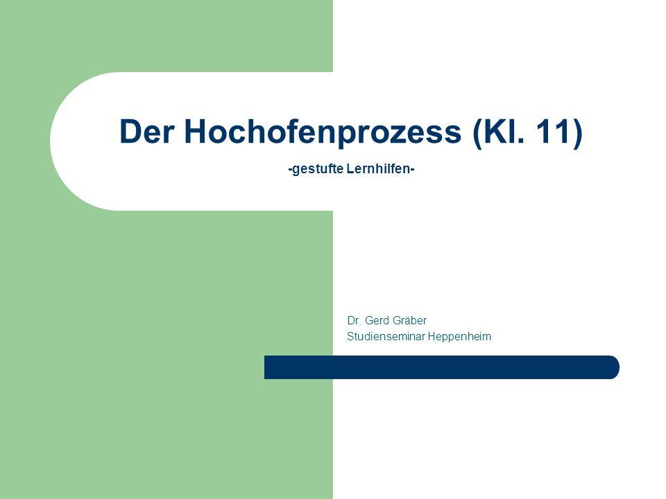Der Hochofenprozess (Kl. 11) -gestufte Lernhilfen-