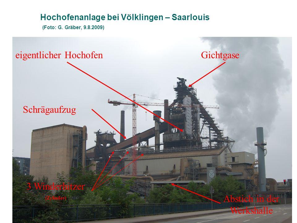 Hochofenanlage bei Völklingen – Saarlouis (Foto: G. Gräber, 9.8.2009)