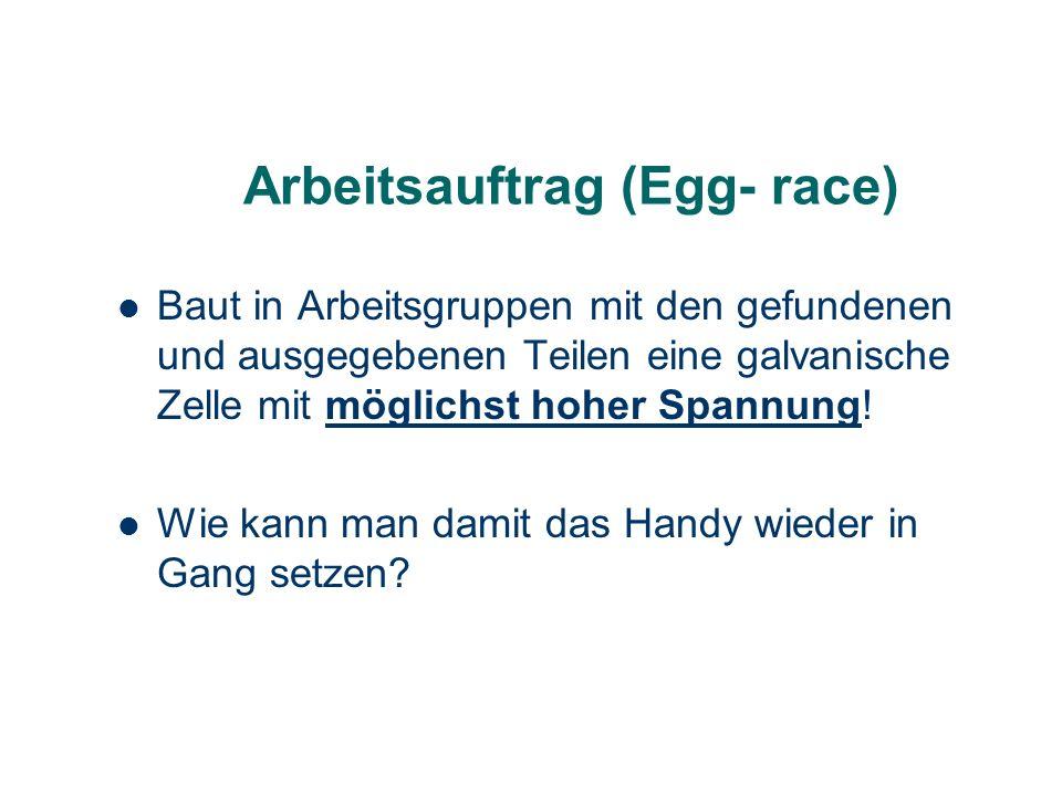Arbeitsauftrag (Egg- race)