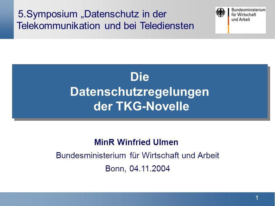 Die Datenschutzregelungen der TKG-Novelle