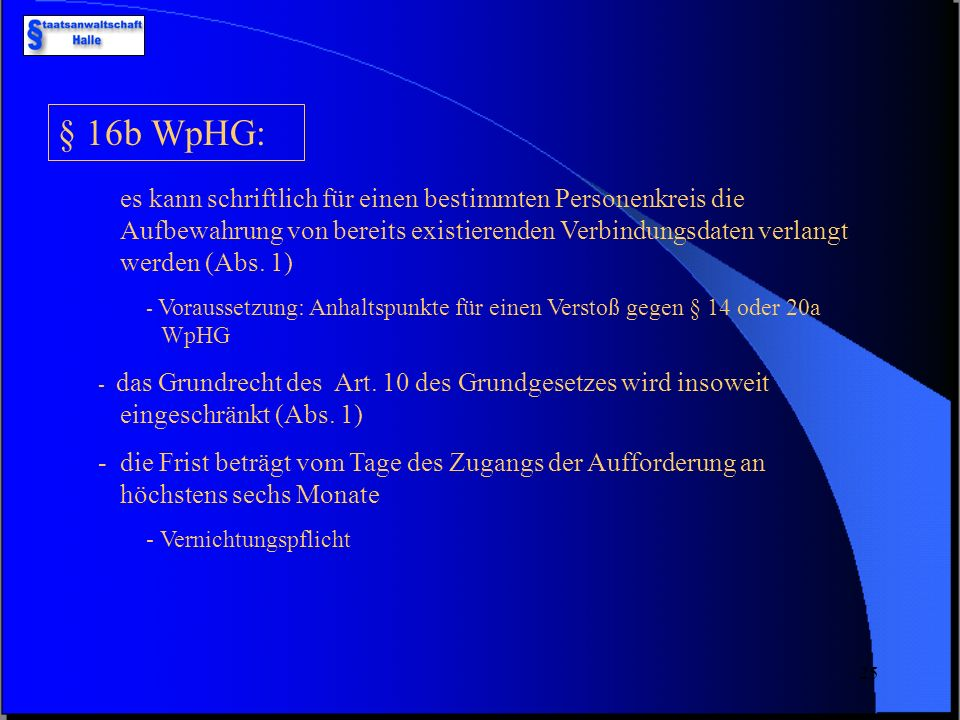 § 16b WpHG:
