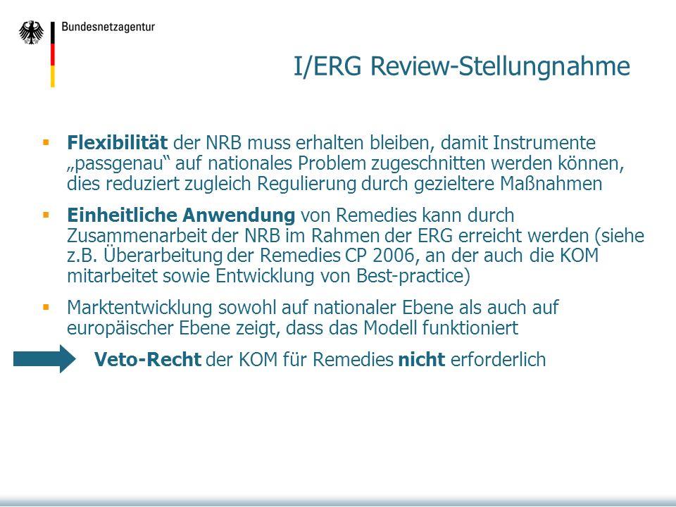 I/ERG Review-Stellungnahme