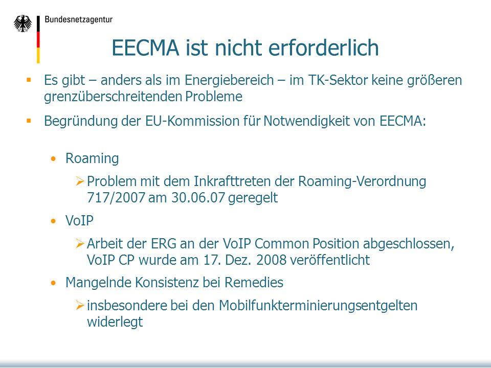 EECMA ist nicht erforderlich