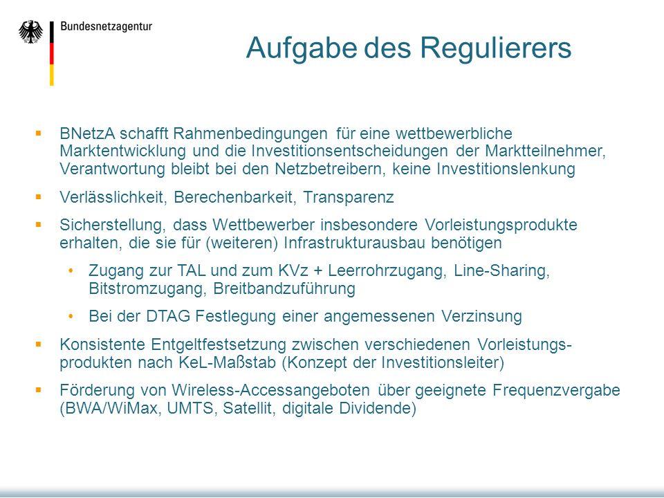 Aufgabe des Regulierers