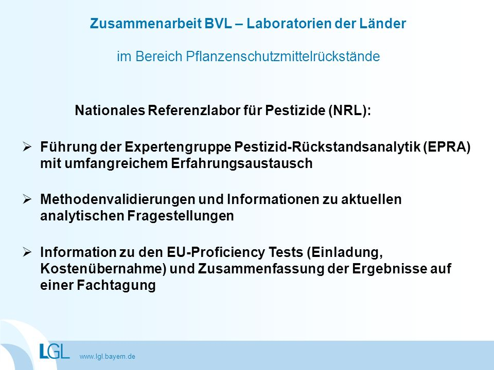 Nationales Referenzlabor für Pestizide (NRL):