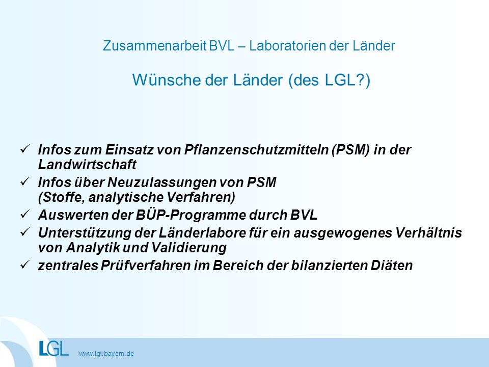 Infos über Neuzulassungen von PSM (Stoffe, analytische Verfahren)