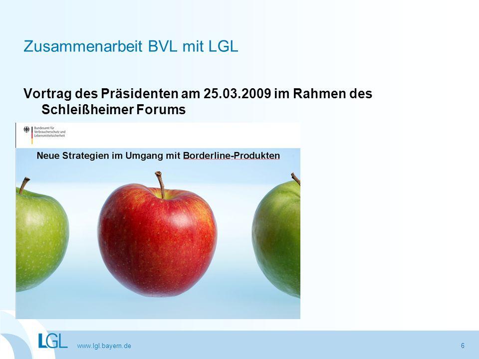 Zusammenarbeit BVL mit LGL