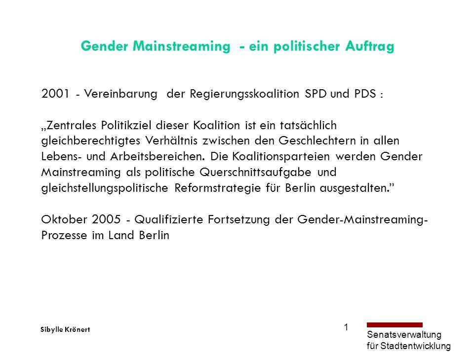 Gender Mainstreaming - ein politischer Auftrag