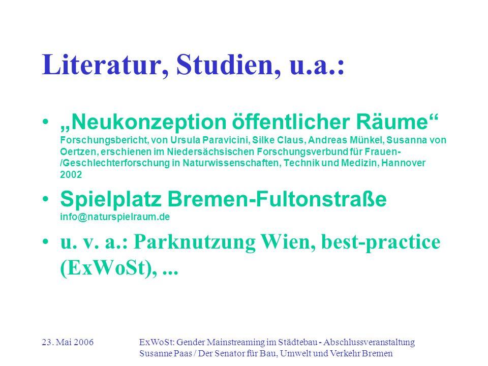 Literatur, Studien, u.a.: