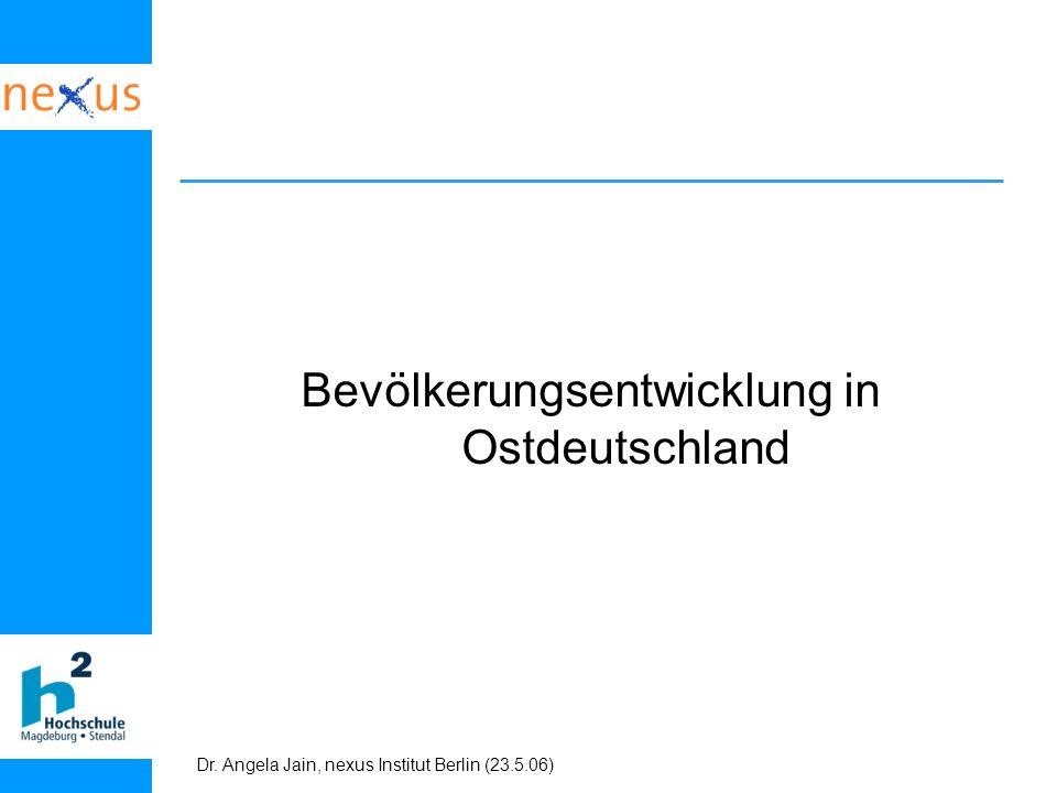 Bevölkerungsentwicklung in Ostdeutschland