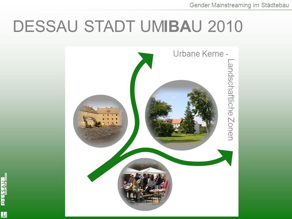 Start DESSAU STADT UM IBAU 2010 Urbane Kerne - Landschaftliche Zonen
