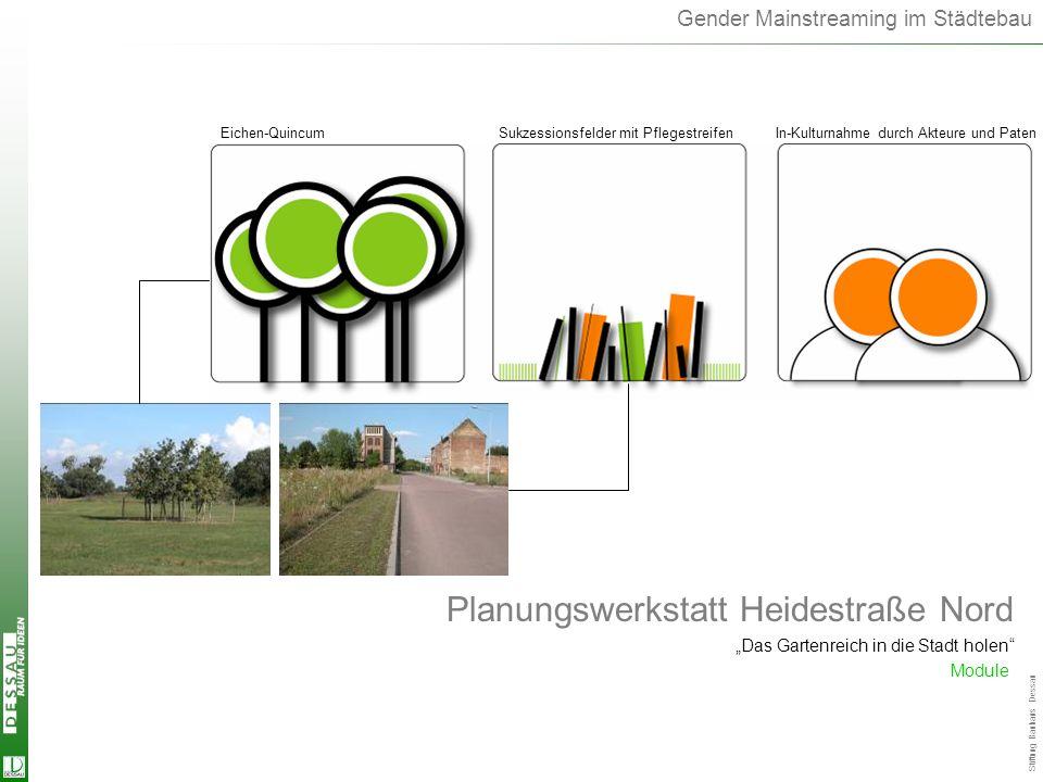 Landschaftsmodule Planungswerkstatt Heidestraße Nord