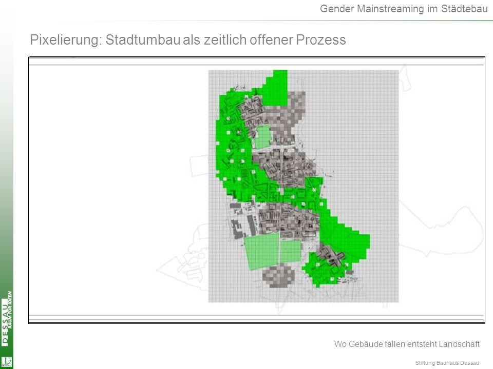 Pixelierung Pixelierung: Stadtumbau als zeitlich offener Prozess 2001