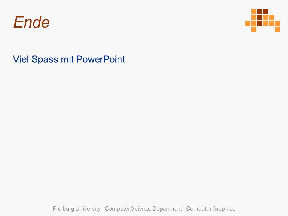 Ende Viel Spass mit PowerPoint