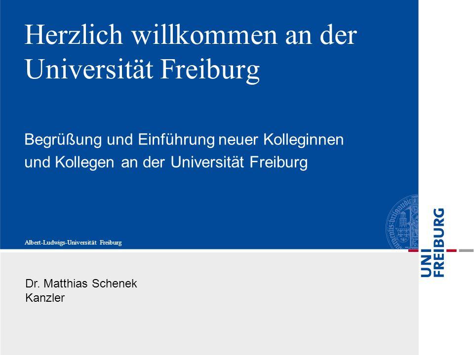 Herzlich willkommen an der Universität Freiburg